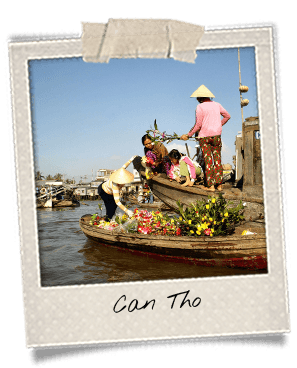 Floating Market in Can Tho Mekong Delta