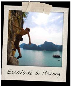 Faire de l'escalade à la baie d'Halong