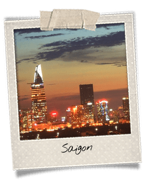 Skyline à Saigon la nuit