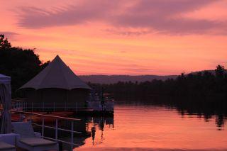 Coucher de soleil sur la rivière Tatai
