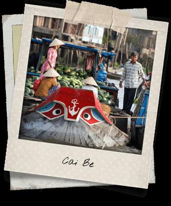 Marché flottant à Cai Be
