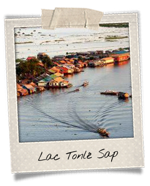 Villages flottants au lac Tonle Sap