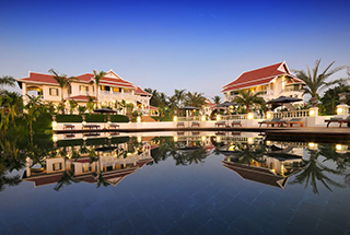 View of the Luang Say Residence from the pool