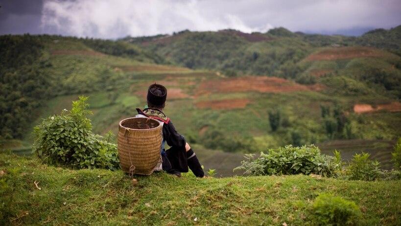 Femme des minorités ethniques dans le nord du Vietnam
