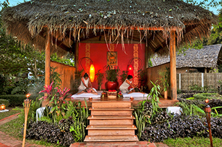 Outdoors massage in Muang La Resort