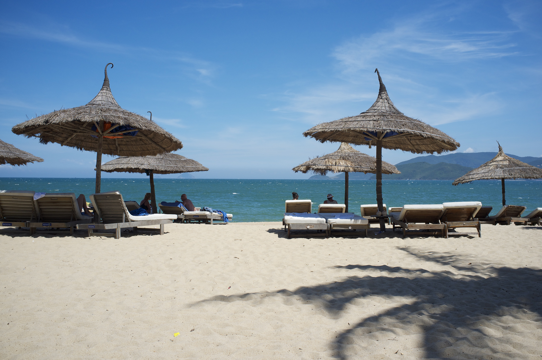 Sunbeds and umbrellas in Nha Trang