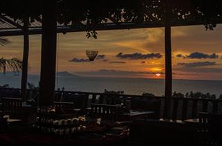 Vue de la terrasse du restaurant au Veranda Natural Kep