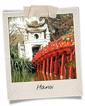 Pont rouge à Hanoi