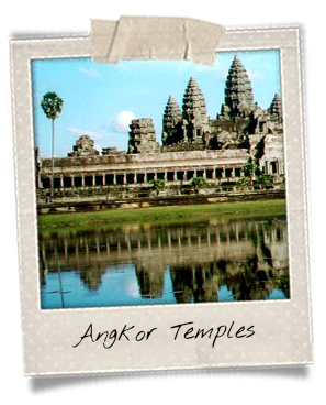 polaroid Angkor Wat Siem Reap