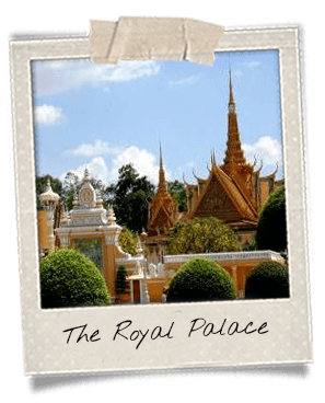 Royal Palace in Phnom Penh polaroid