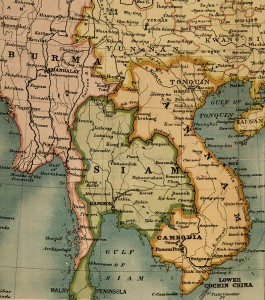 Carte Asie du Sud-Est Annam