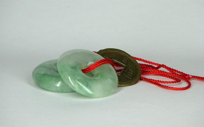 Pendentif circulaire en jade