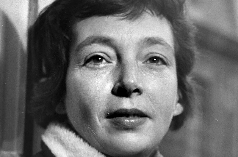 Photo en noir et blanc de Marguerite Duras