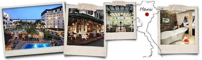 Polaroids et carte Metropole hotel Hanoi