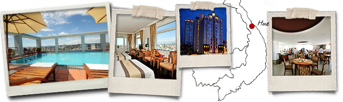 Polaroids et map Romance hotel Hue