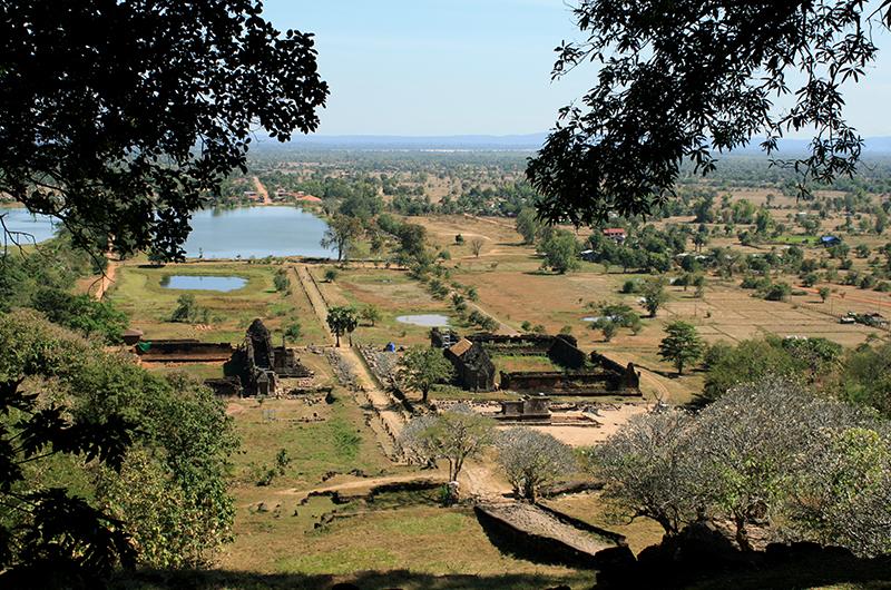 Vue du temple Vat Phou à Champassak