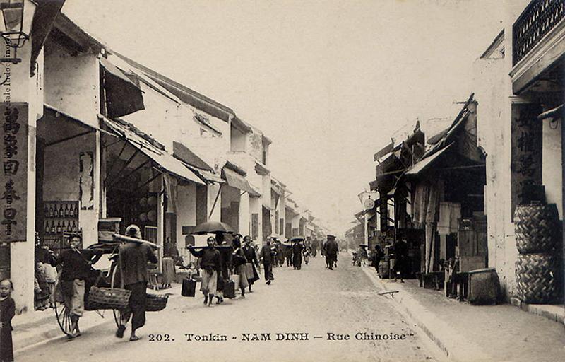 Rue Chinoise, province de Nam Dinh, Tonkin