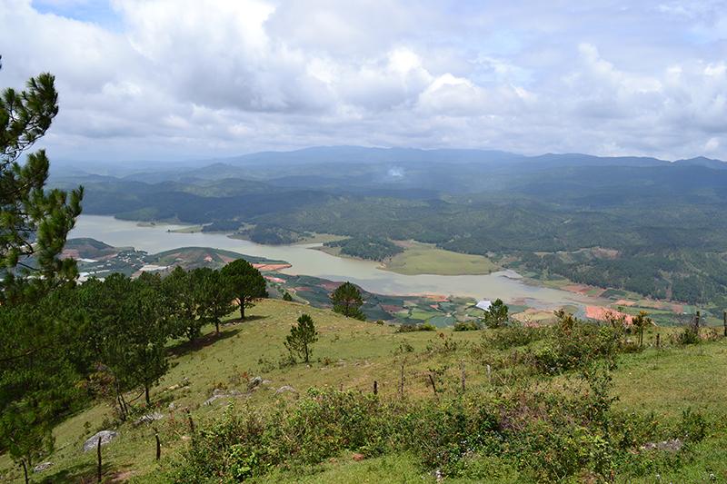 Vue de Langbiang Mountain à Dalat
