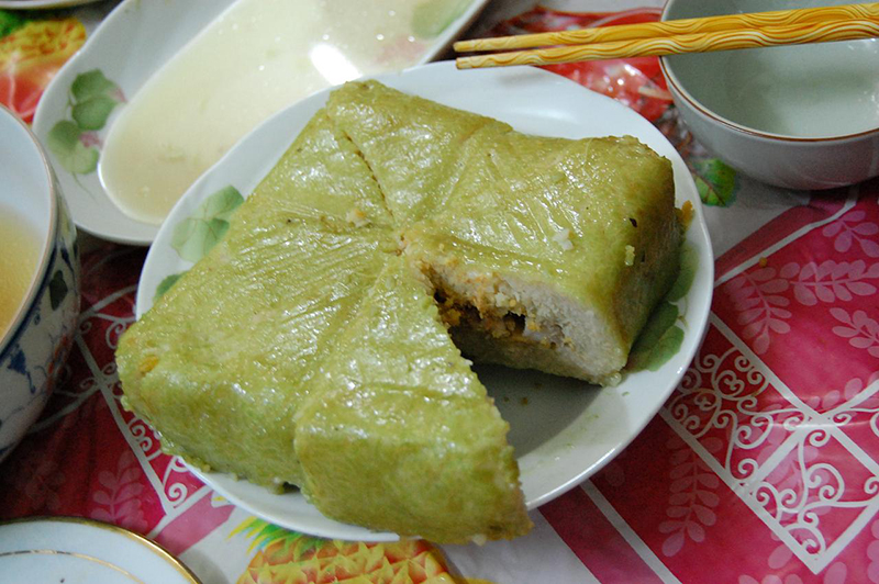 Banh chung carré, gâteau de riz cuisine du Tet