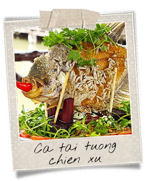 Plat de poisson typique du Mékong
