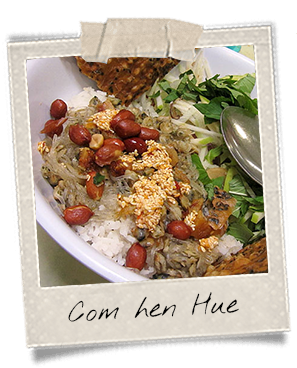 Com hen, spécialité de Hue, ville du centre Vietnam