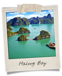 Mountains in the Halong Bay