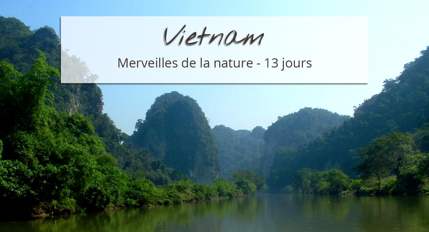 Paysage merveilles de la nature Vietnam
