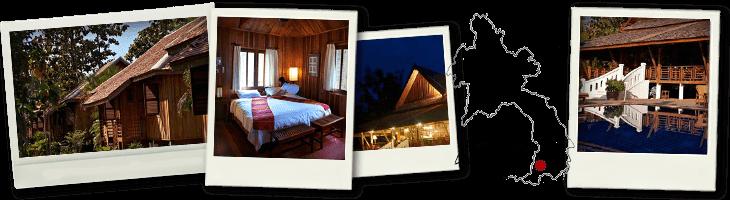 Polaroids and map of Folie Lodge Done Daeng Island