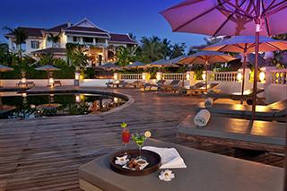 Pool at night at the Luang Say Residence
