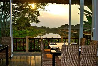 Mekong Riverside table for dinner