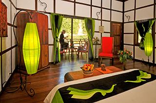 Green decoration in Muang La Resort