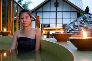 Candles and relaxation at spa Muang La Resort