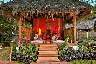 Outdoors massage in Muang La Resort