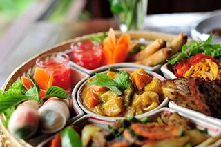 Khmer cuisine at Sambor Village