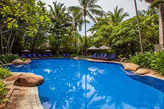 Freestyle pool outside the Settha Palace Hotel