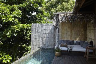 Piscine privée dans une villa jungle