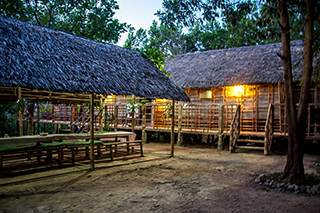 longhouse by night