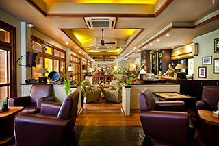 Vue du restaurant au Victoria Angkor Resort