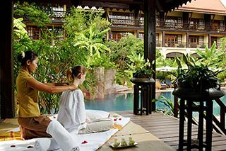 Massage au spa du Victoria Angkor Resort