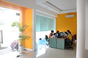Intérieur des bureaux de Nam Viet Voyage