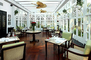 Veranda at the Metropole Hotel Hanoi