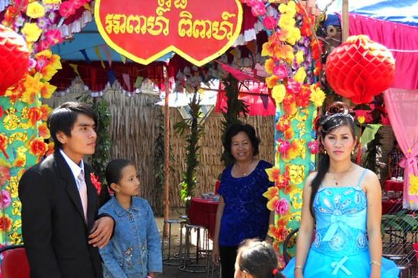 Mariage de Khmers dans le delta du Mékong